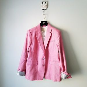 Banana Republic | Pink Hacking Jacket Blazer Sz 16